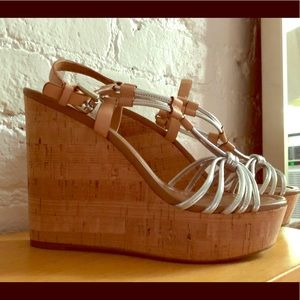 Coach Wedges - worn once!